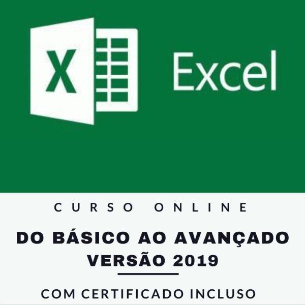 Curso Online Excel 2019 do Básico ao Avançado